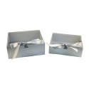 A set of boxes with 2 pieces with by. lid W7967 silver