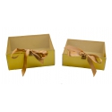 Набір коробок з 2 шт з проз. кришкою W7967 золоті