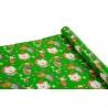 """Папір крейдований новорічний 0,7м*10ярд """"Олені та медвідь"""" на зеленому"""