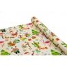 """Папір крейдований новорічний 0,7м*10ярд """"Різдво в тропіках"""""""