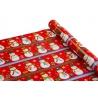 Папір крейдований новорічний 0,7м*10ярд «Сніговик» на червоному
