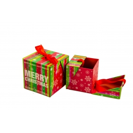 Set of cubic Christmas gift boxes with 2 pcs W7848