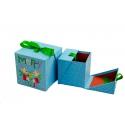 Набір кубічних новорічних коробок для подарунків з 2 шт W7850