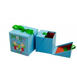 Набор кубических новогодних коробок для подарков с 2 шт W7850