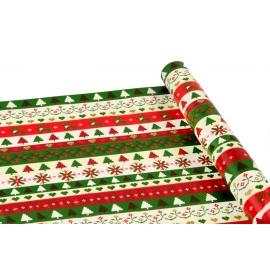 """Папір крейдований новорічний 0,7м*10ярд """"Вишитий новорічний орнамент"""""""
