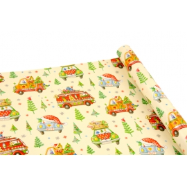 """Paper coated New Year's 0,7m * 10yards """"New Year's car"""