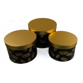 Набір круглих коробок для квітів з 3 шт W5117