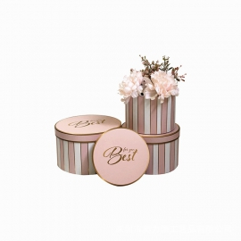 Set of round flower boxes with 3 pcs W5343