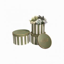 Набір круглих коробок для квітів з 3 шт W5344