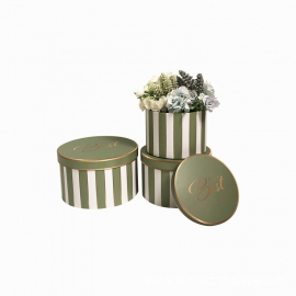 Set of round flower boxes with 3 pcs W5344