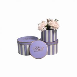 Набір круглих коробок для квітів з 3 шт W5345