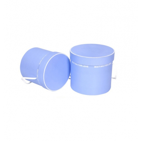 Set of round flower boxes with 2 pieces of T2PSBBT purple