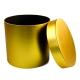 Круглая коробка для цветов DZQJ-2 золота