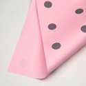 """Film opaque bilateral """"PEAS"""" in a roll of 0,6 x 8 m P.XXY-165 Light Pink"""