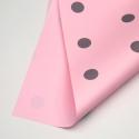 """Пленка матовая двухсторонняя """"ГОРОХ"""" в рулоне 0,6 х 8м P.XXY-165 Light Pink"""