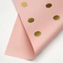 """Пленка матовая двухсторонняя """"ГОРОХ"""" в рулоне 0,6 х 8м P.XXY-167 Icy Pink"""