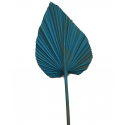 Stabilized cattail leaves are painted