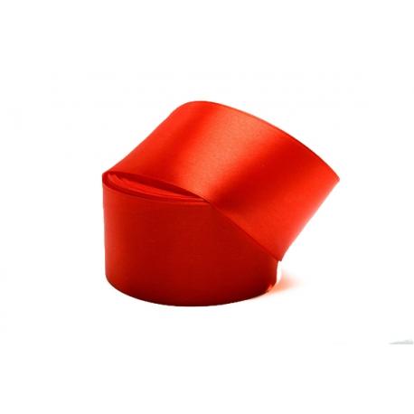 Лента сатиновая 5 см. * 30 м Красная 26