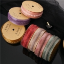 Oganza tape with a strip of 2,5 cm * 10 yards HY-107 Bordeaux