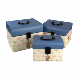 Set of gift boxes Chest with Rabbit from 3 pieces of W5107