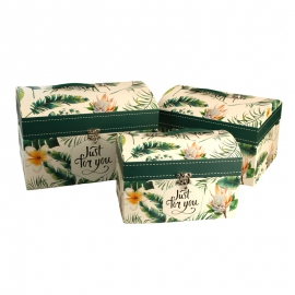 Set of gift boxes Chest of 3 pieces W5164