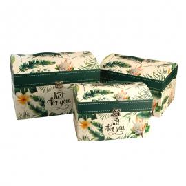 Набір коробок для подарунків Скриня з 3 шт W5164