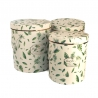 Set of round boxes for flowers with 3 pieces 0809-5 Tropical Leaves