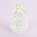 """Set of boxes """"Heart"""" 3365 from 3 pieces 1002 White"""