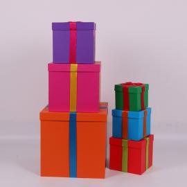 Набор кубических коробок 6002 с 6 шт МИКС