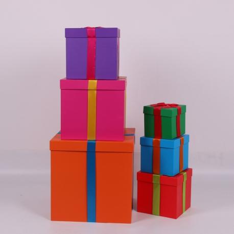 Набір кубічних коробок 6002 з 6 шт МІКС