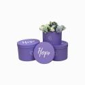 Набор тубусов Hope с 3 шт W5297 Фиолетовые