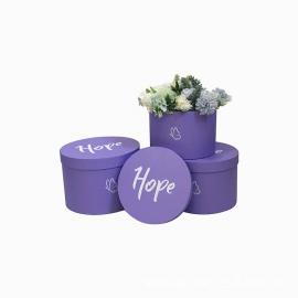 Набір тубусів Hope з 3 шт W5297 Фіолетові