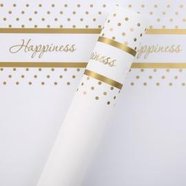 Пленка матовая в письмах Happiness P.HX 062 Gold