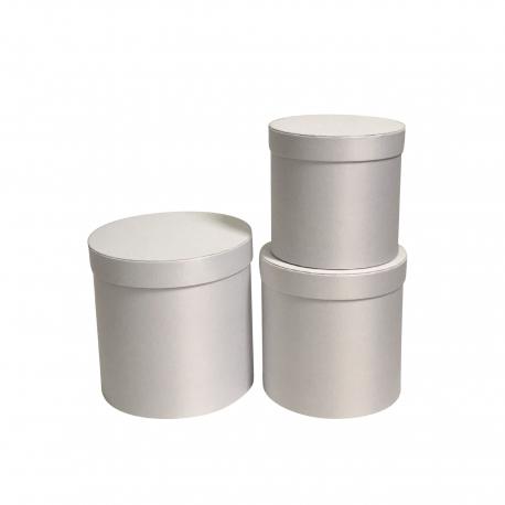 Набор сатиновых тубусов с 3 шт W5037 Белые