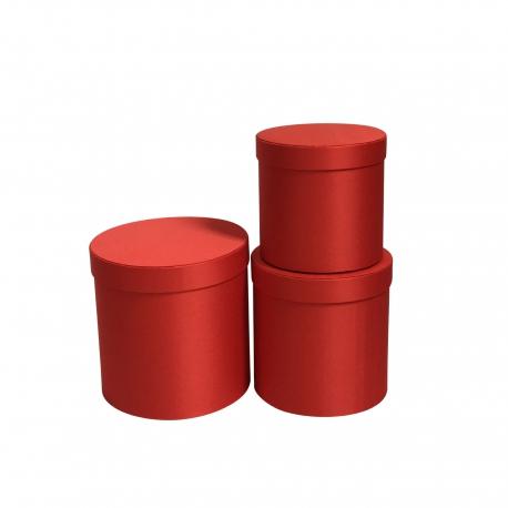 Набор сатиновых тубусов с 3 шт W5039 Красные
