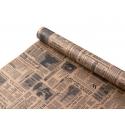 "Папір Крафт 0,7х8м ""Газета"" чорним"