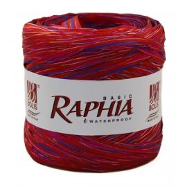 Raffia Italy 200m Red + Raspberry + Purple