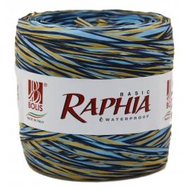 Рафия Италия 200m Синий + голубой + бежевый