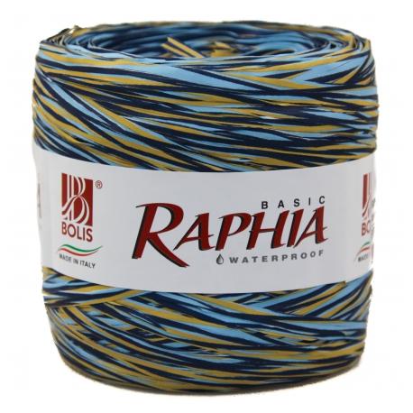 Raffia Italy 200m Blue + Cyan + Beige