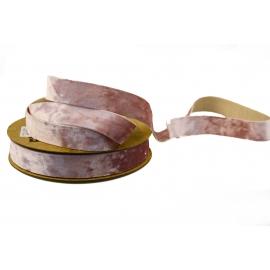 Стрічка бархатна 2,5см*20ярд DX-0628-027 Рожева
