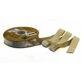 Стрічка бархатна 2,5см*20ярд DX-0628-026 Пісочна