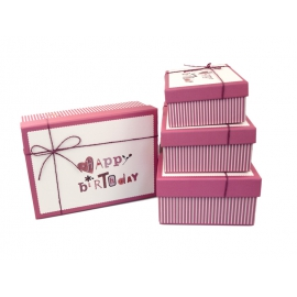 Set of gift boxes with 4 pieces 080-10