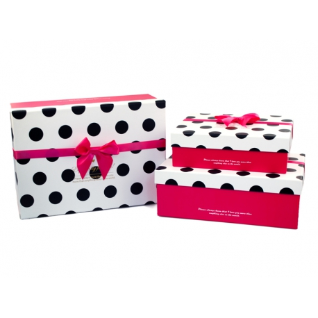 Set of boxes for gifts from 3 pieces 91307-9