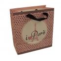 Пакет бумажный LT-628XS PARIS черный горох