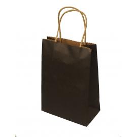 Пакет бумажный крафтовой 15 * 8 * 22 Черный