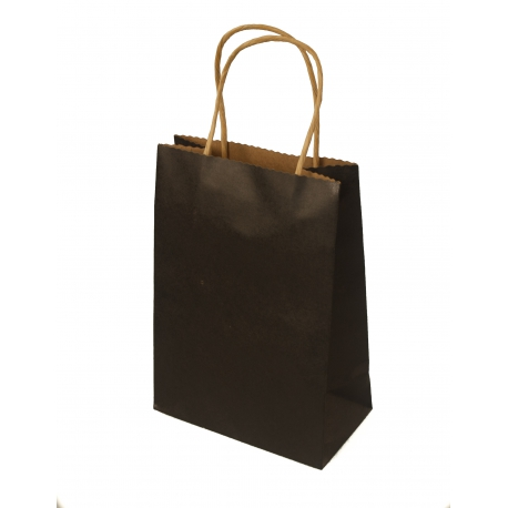 Пакет паперовий крафтовий 15*8*22 Чорний