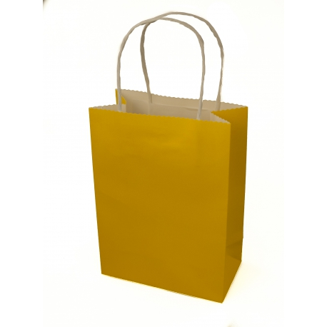 Пакет бумажный крафтовой 15 * 8 * 22 Желтый