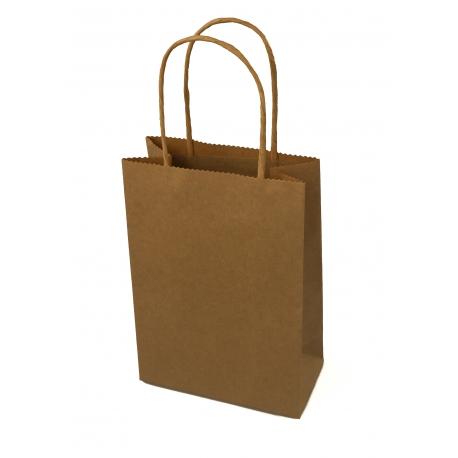 Пакет бумажный крафтовой 15 * 8 * 22 Бежевый