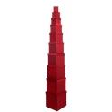 Набір кубічних коробок 601- HS-95-SD301 з 10 шт Червоні
