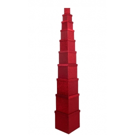 Set of cube boxes 601- HS-95-SD301 with 10 pcs Red